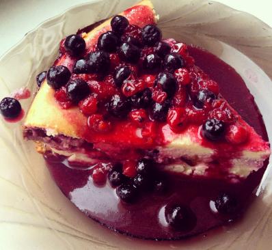 Безглютеновый пирог с ягодами